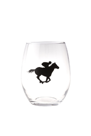 Tyler Robertson KY artist Stemless Derby Wine Glass - Product Mini Image
