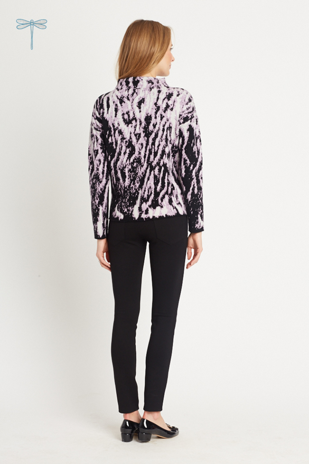 Tyler Boe Audrey Jacquard Sweater - Side Cropped Image