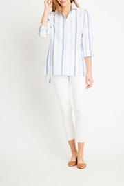 Tyler Boe Awning Striped Workshirt - Front cropped