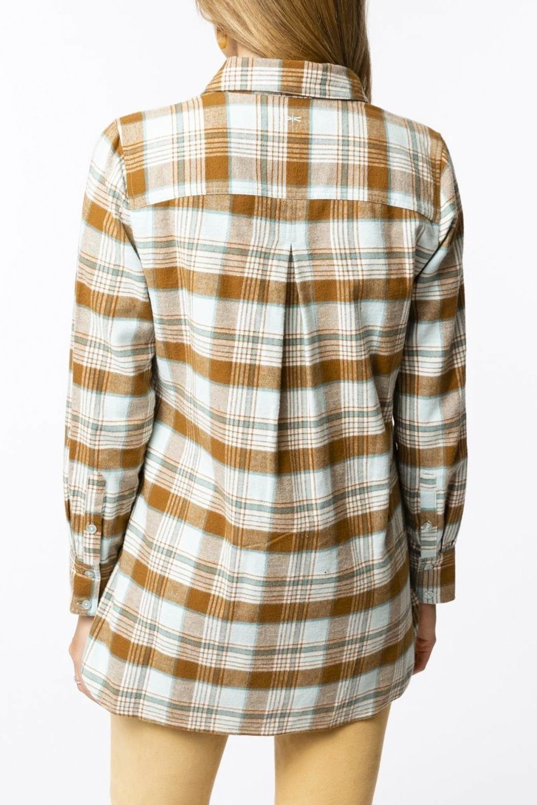 Tyler Boe Brushed Yellowstone-Plaid Shirt - Front Full Image