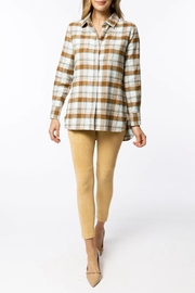 Tyler Boe Brushed Yellowstone-Plaid Shirt - Side cropped