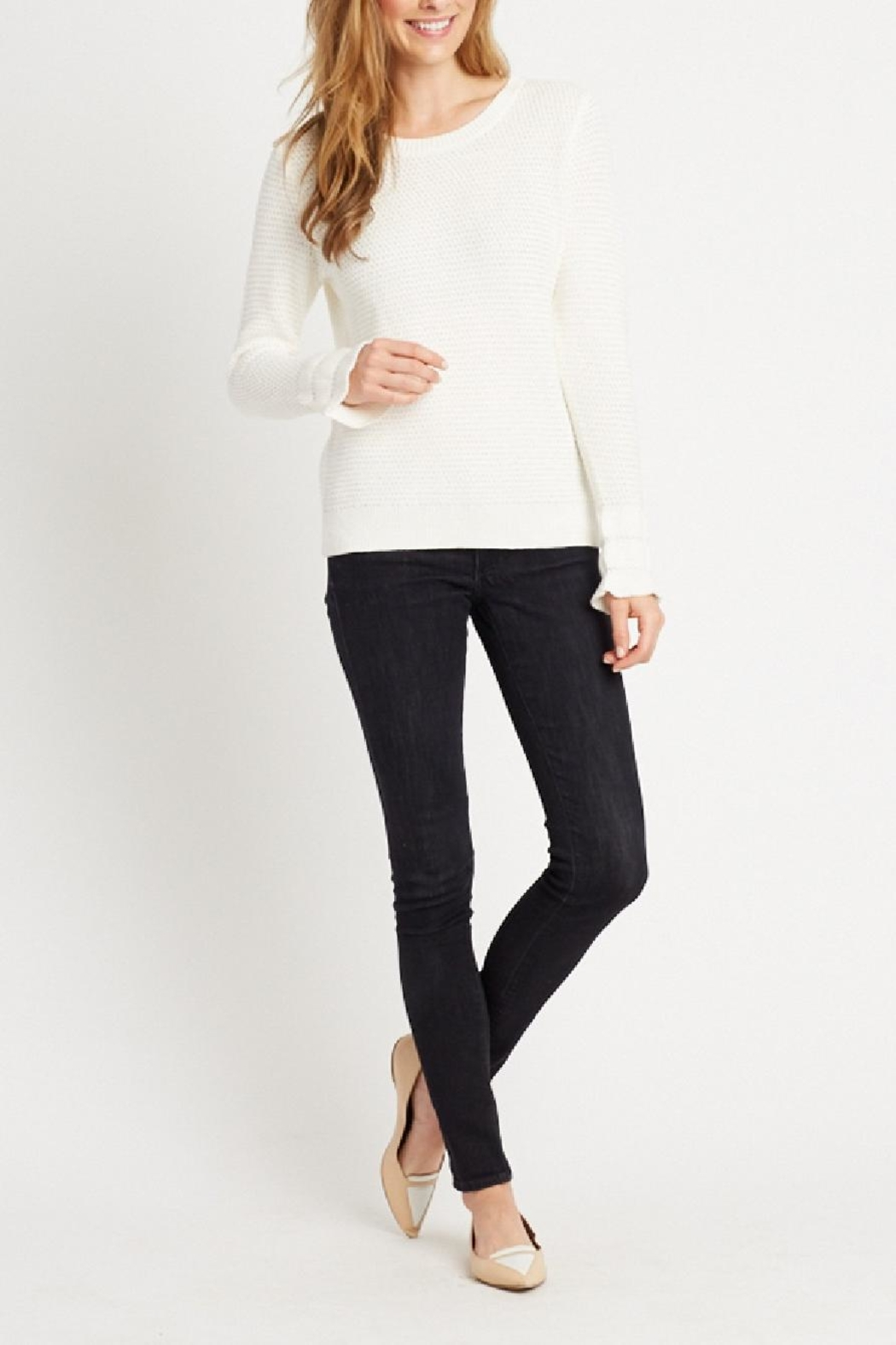 Tyler Boe Charlotte Ruffle Sweater - Front Cropped Image
