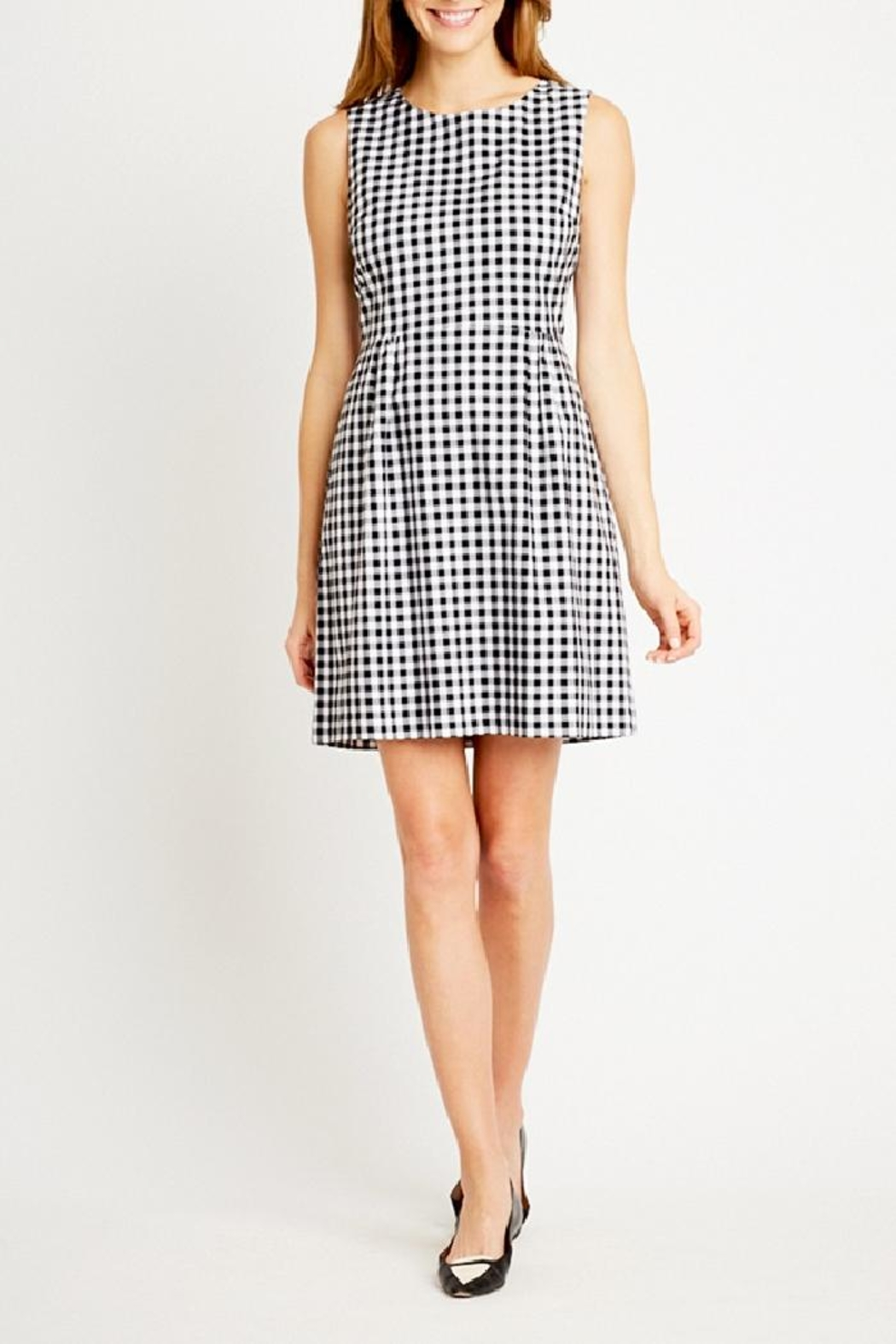 Tyler Boe Claire Gingham Dress - Side Cropped Image