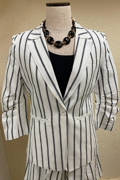 Shoptiques Product: Cooper Stripe ¾ Sleeve Blazer