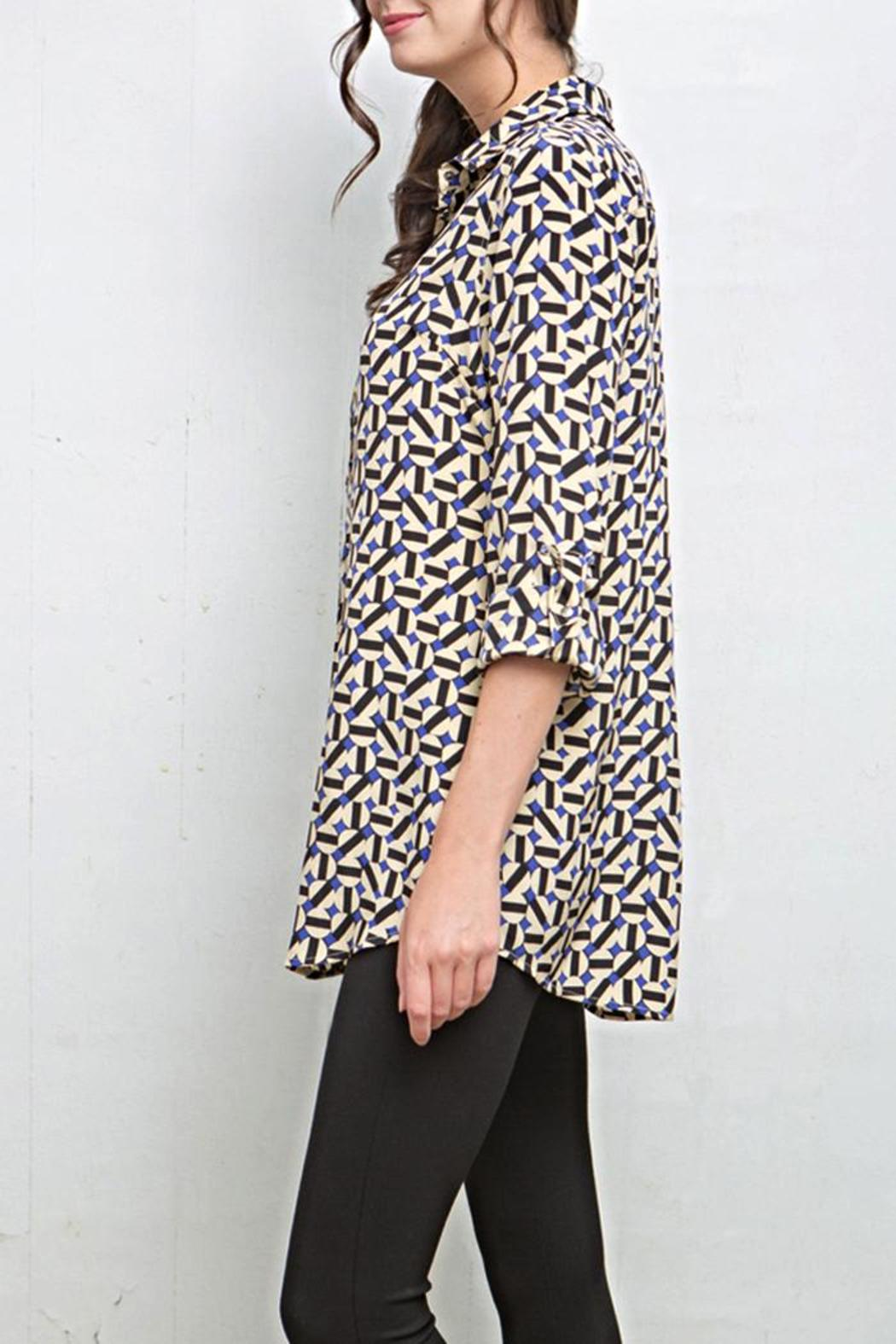 Tyler Boe Corsican Geo Tina Blouse - Front Full Image