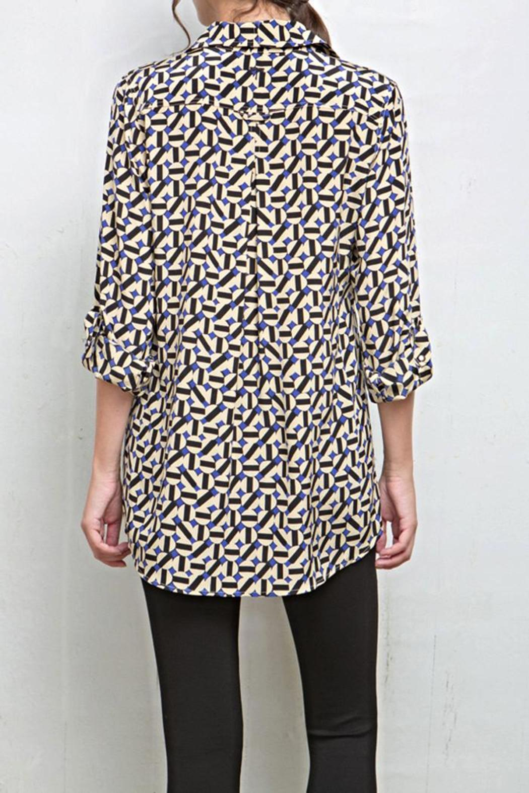 Tyler Boe Corsican Geo Tina Blouse - Side Cropped Image
