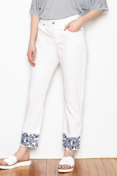 Tyler Boe Fringed Embroidery Jeans - Product List Image