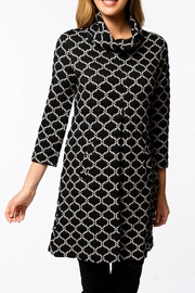 Tyler Boe Kim Jacquard Cowl Neck Dress - Product Mini Image