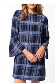 Tyler Boe Plaid Blue Dress - Product Mini Image