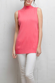 Tyler Boe Pink Sleeveless Sweater Top - Front cropped
