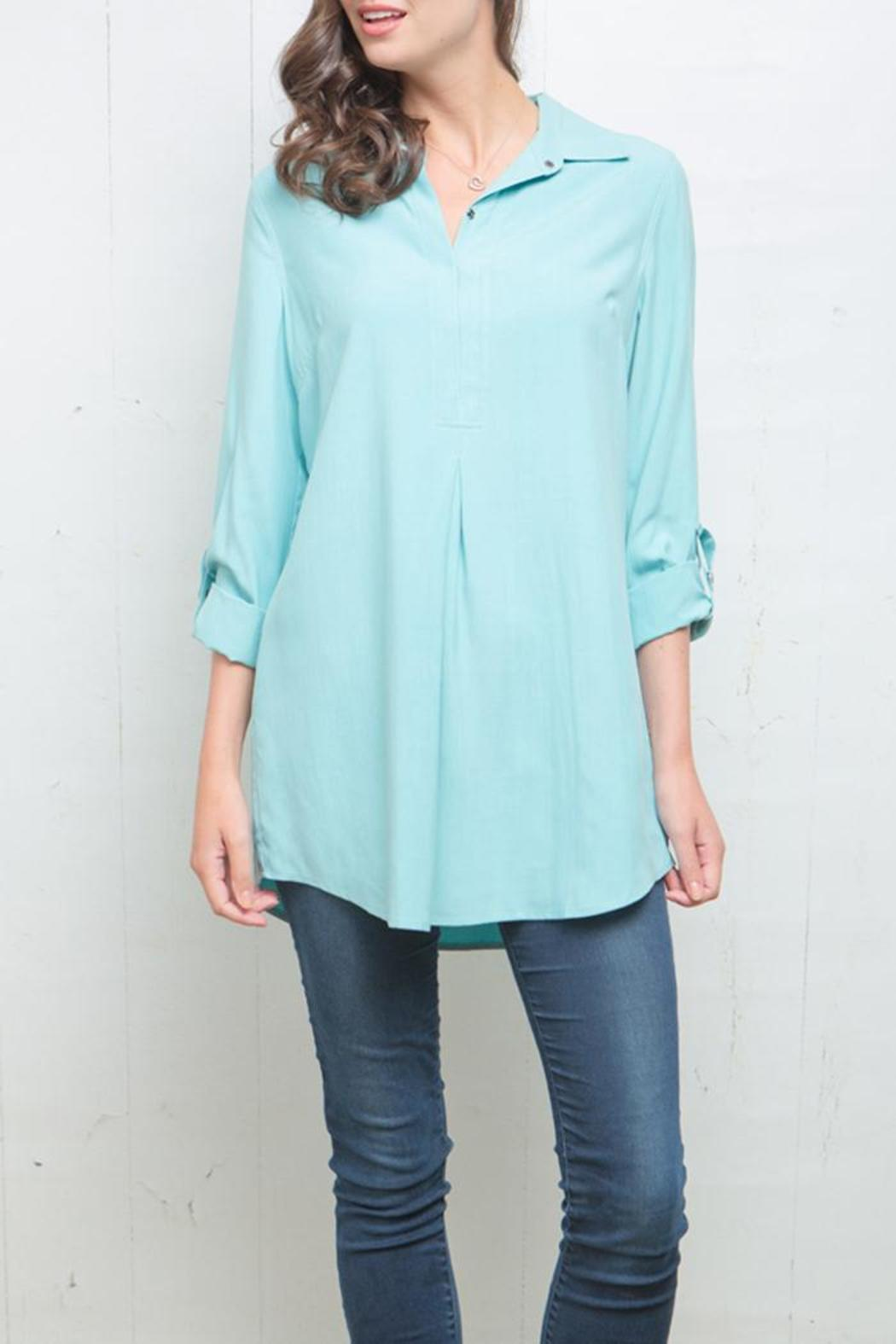 Tyler Boe Tina Silk Broadcloth Shirt - Front Cropped Image
