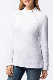 Tyler Boe Zip-Up Mock-Neck Sweater - Front cropped