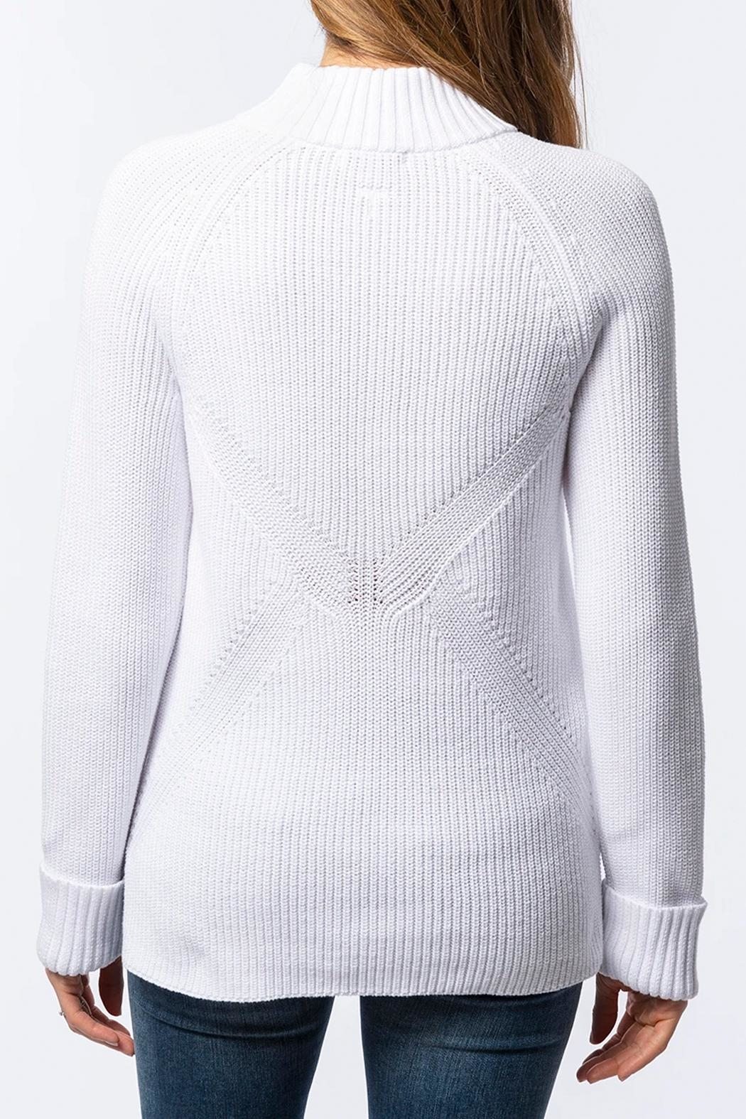 Tyler Boe Zip-Up Mock-Neck Sweater - Front Full Image