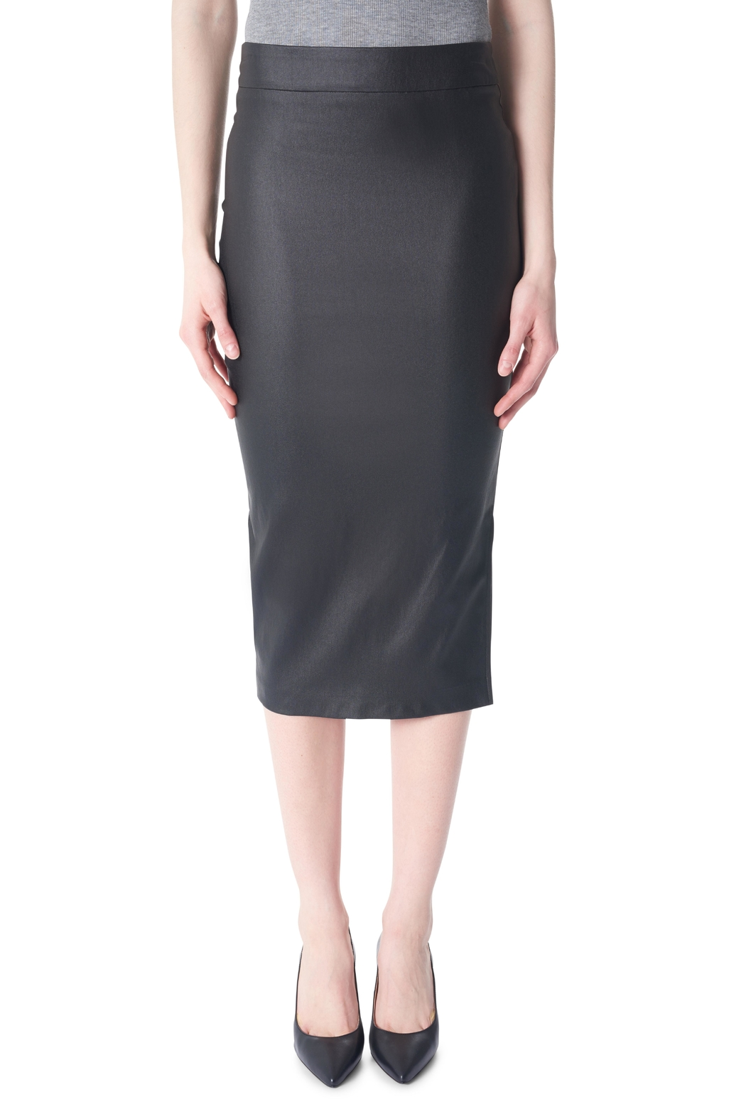 Tyler Madison Waxed Pencil Skirt - Front Cropped Image