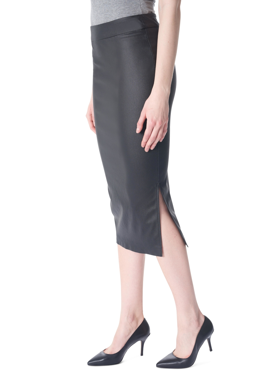 Tyler Madison Waxed Pencil Skirt - Front Full Image