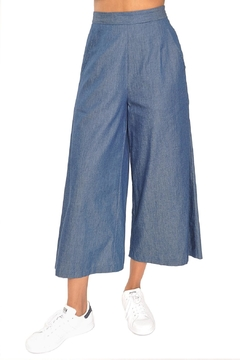 TYLHO Chambray Culotte Pants - Product List Image