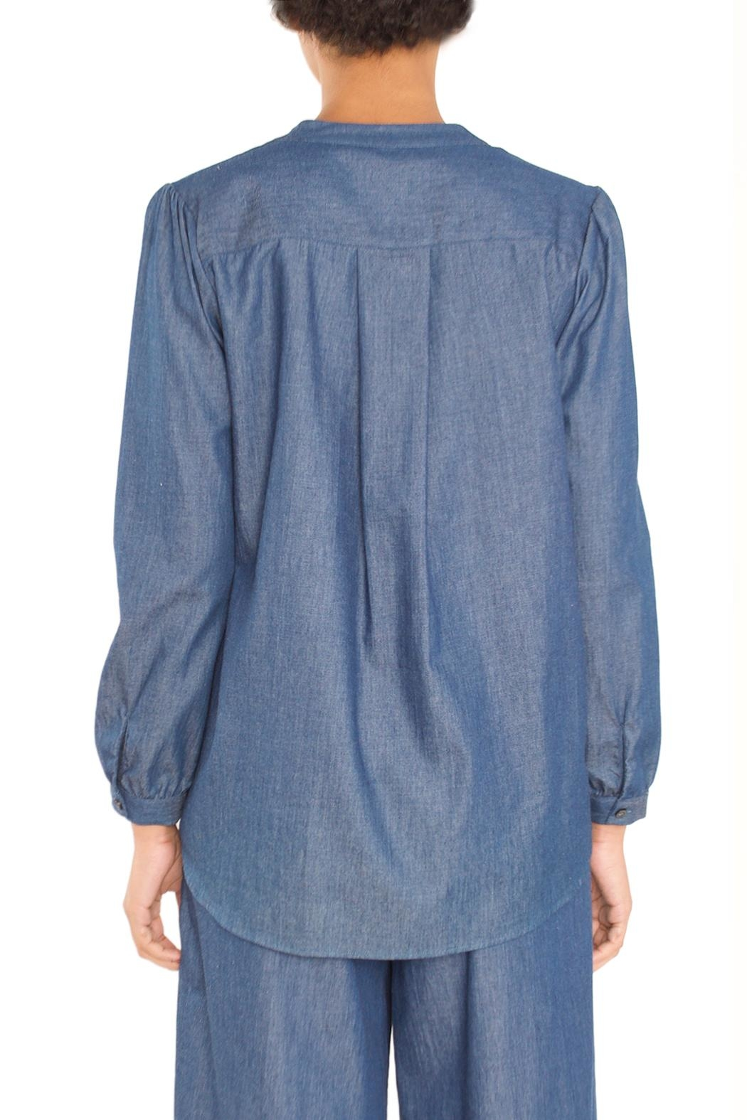 TYLHO Chambray Henley Shirt - Side Cropped Image
