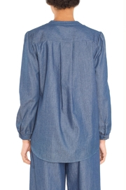 TYLHO Chambray Henley Shirt - Side cropped