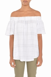 TYLHO White Off Shoulder Top - Front cropped