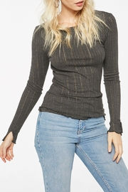 Project Social T Tyne Textured Longsleeve - Front cropped