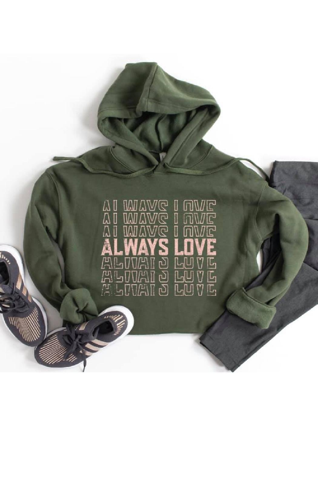 Type A Always Love Sweatshirt - Front Cropped Image