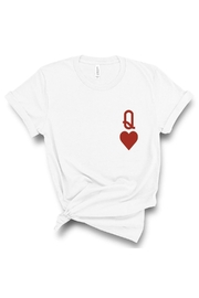 Type A Queen Of Hearts T - Front cropped