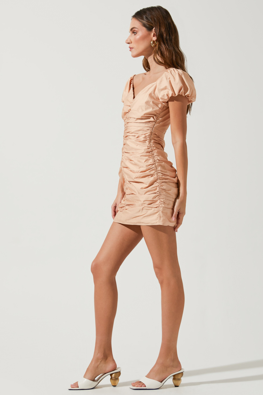 ASTR the Label Tyra Puff Sleeve Dress - Front Full Image