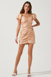 ASTR the Label Tyra Puff Sleeve Dress - Front cropped
