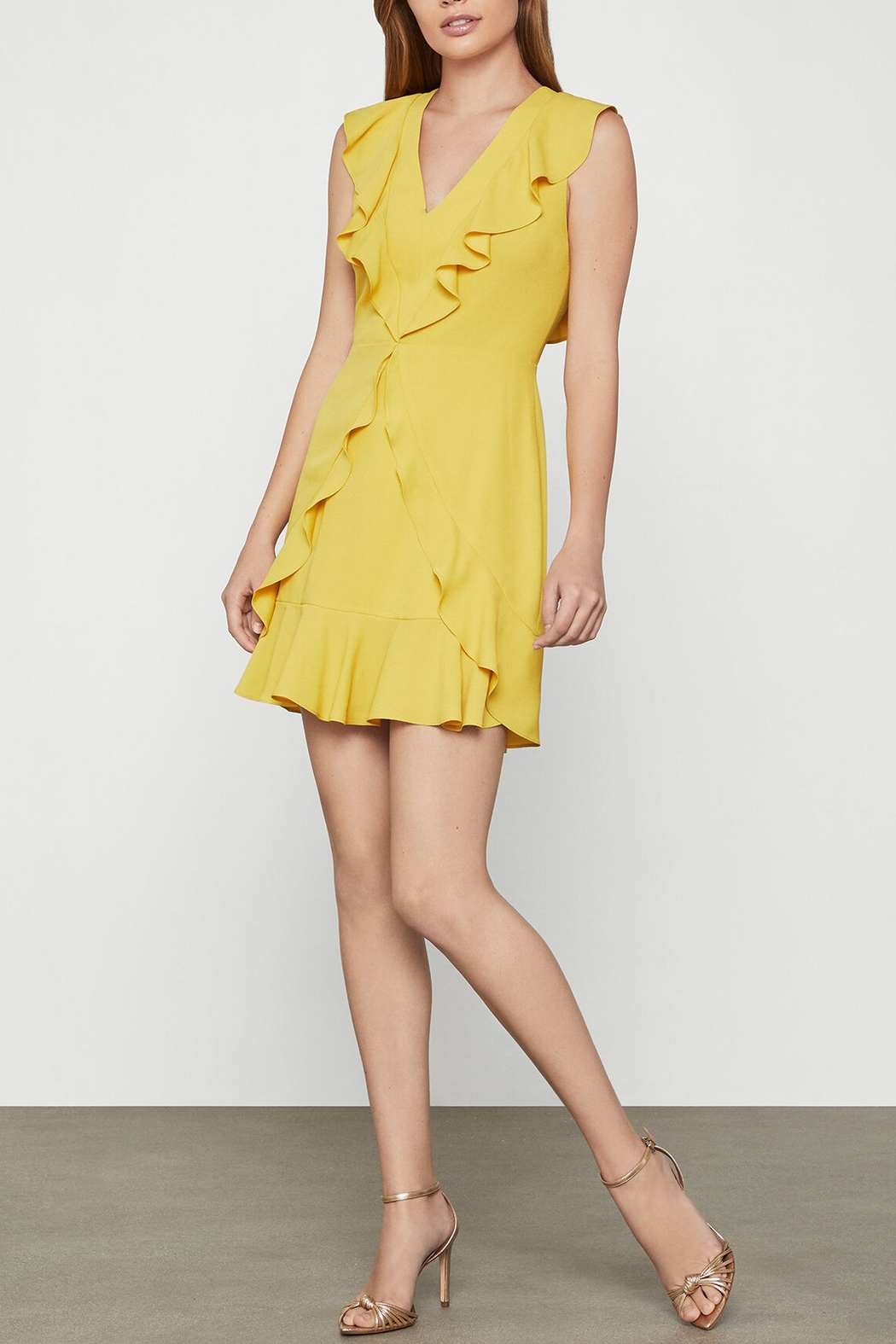 BCBG MAXAZRIA Tyrah Sleeveless Ruffle Dress - Main Image