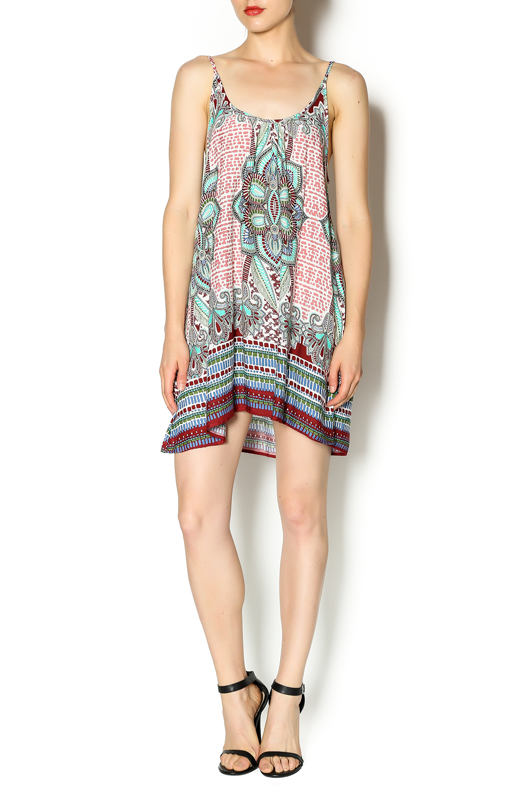Tysa Morocco Mini Dress - Front Full Image