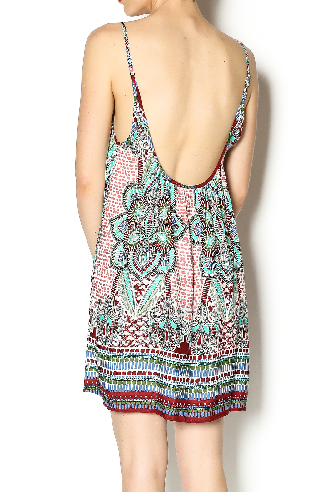 Tysa Morocco Mini Dress - Back Cropped Image