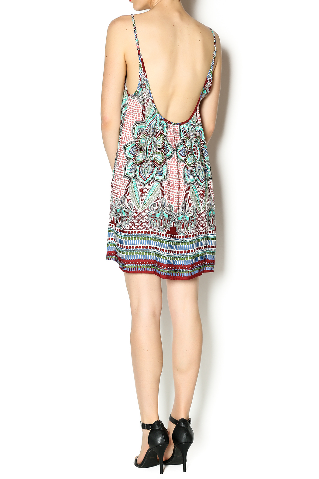 Tysa Morocco Mini Dress - Side Cropped Image