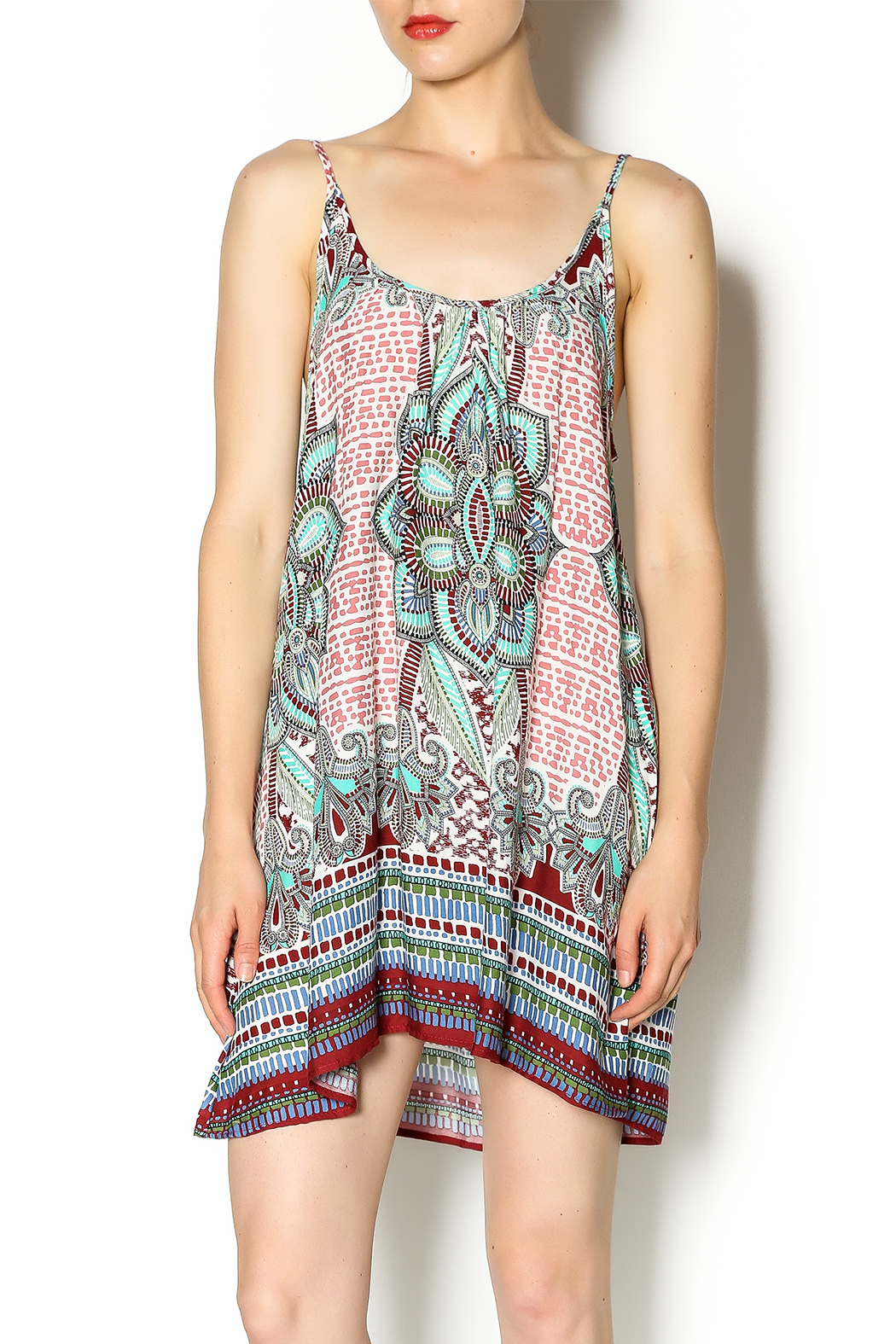 Tysa Morocco Mini Dress - Front Cropped Image