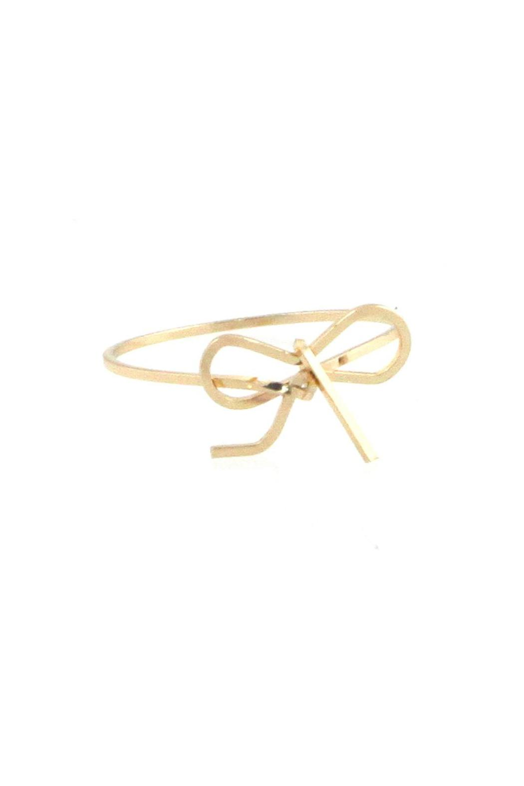 U.S. Jewlery House Gold Bow Ring - Front Cropped Image