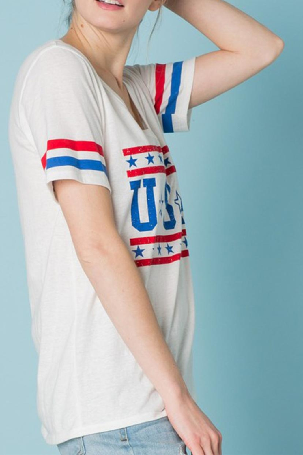 Sweet Claire u.s.a t Shirt - Side Cropped Image