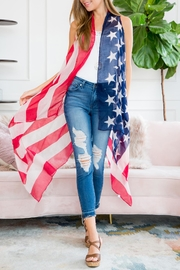 Riah Fashion U.S.-Flag-Open-Front Vest-Cardigan - Product Mini Image