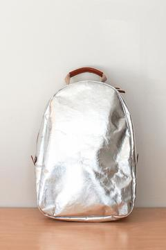 Shoptiques Product: Silver Paper Backpack