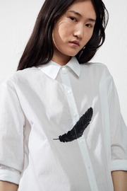 UCHUU Embroidered Feather Shirt - Product Mini Image