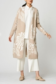 UCHUU Printed Floral Cardigan - Front cropped