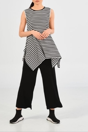 UCHUU Striped Sleeveless Top - Front cropped