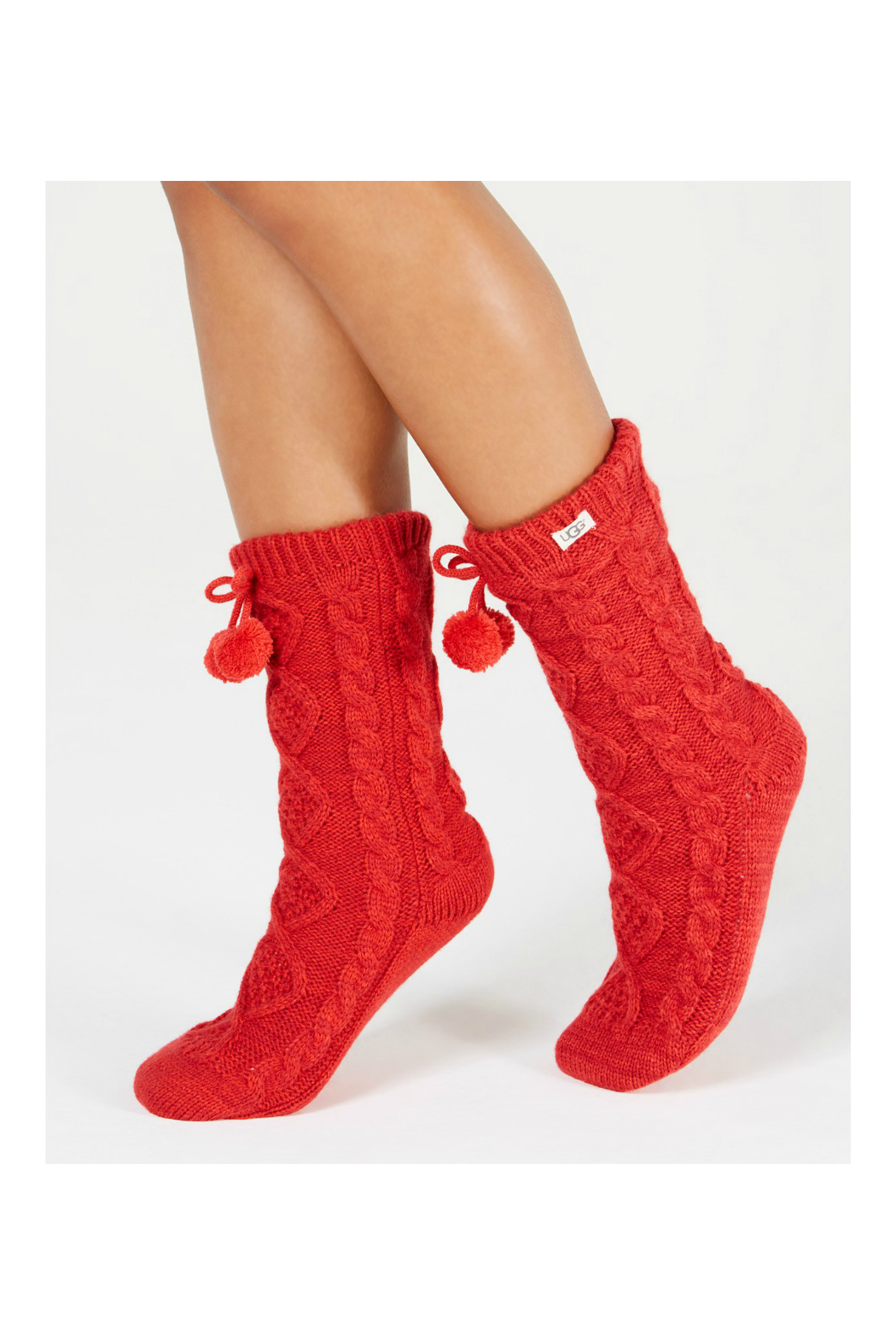 Ugg Pompomfleece-Lined Crewsock - Front Cropped Image