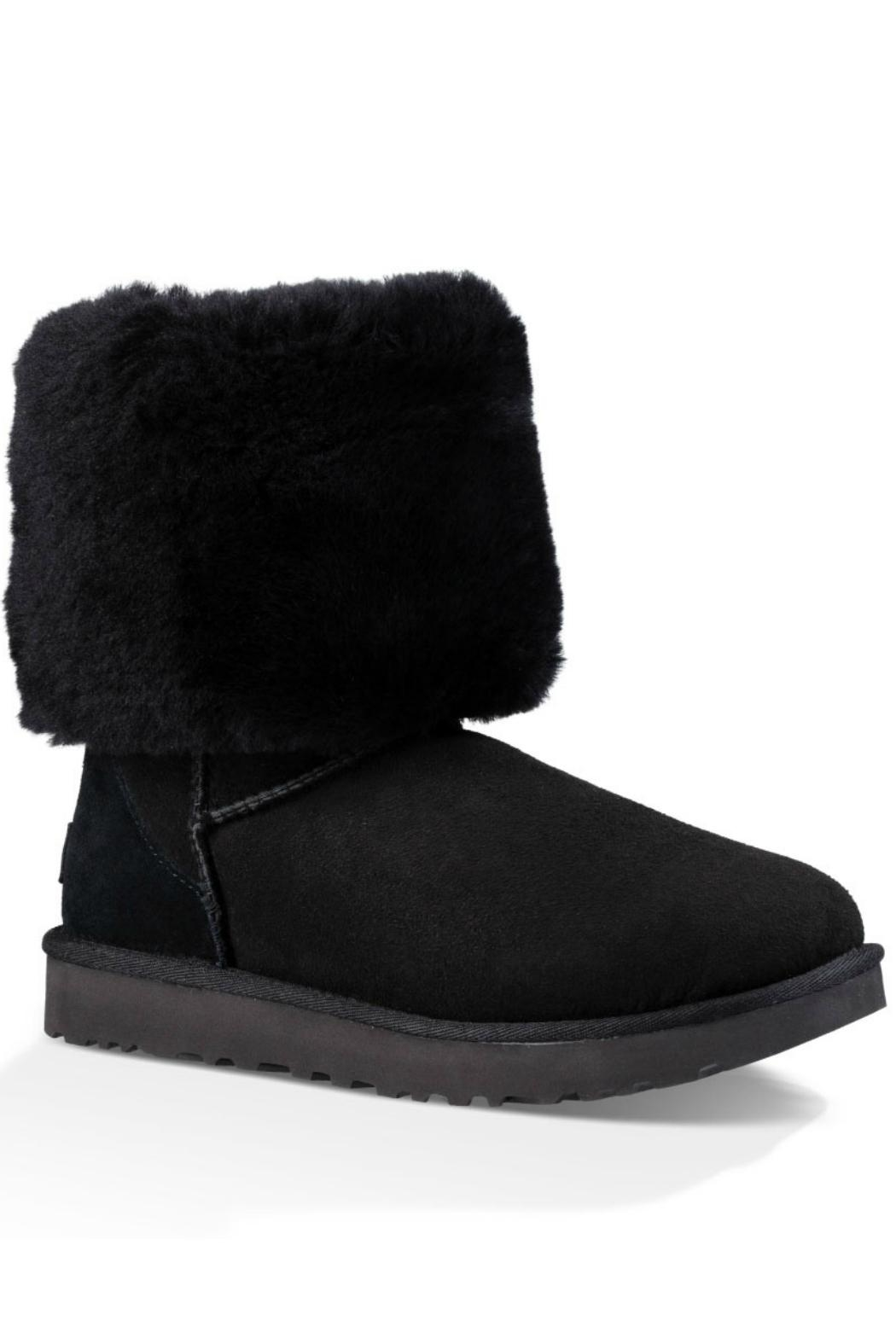 UGG Australia Tall Shearling Black Boot - Front Full Image