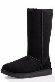 UGG Australia Tall Shearling Black Boot - Front cropped