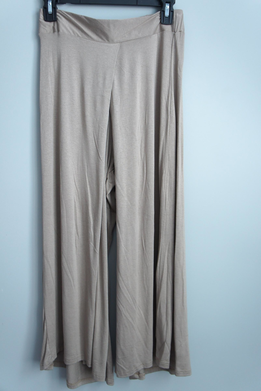 Uj Pleated-Front Gaucho Pants - Main Image