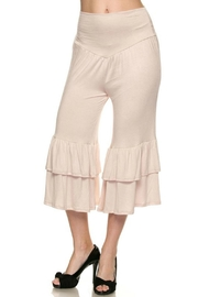 Uj Ruffle Capri Pants - Product Mini Image