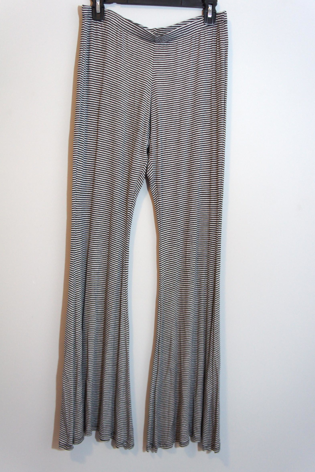 Uj Striped Palazzo Pants - Front Cropped Image