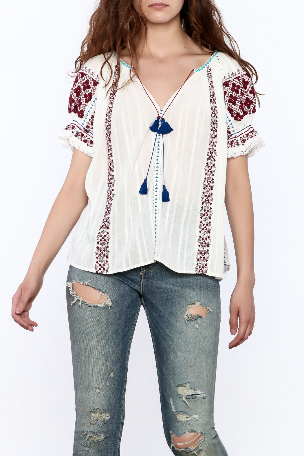 Ulla Johnson Ana Top - Front Cropped Image