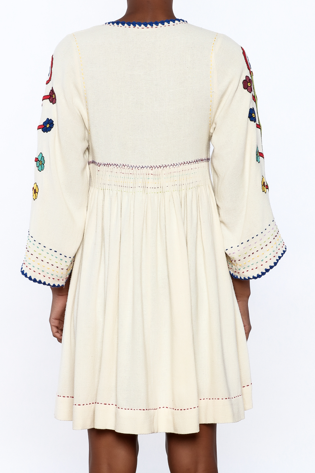 Ulla Johnson Masha Embroidered Dress - Back Cropped Image
