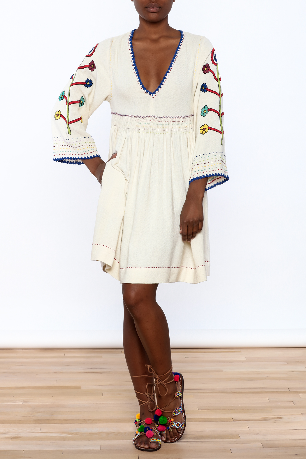 Ulla Johnson Masha Embroidered Dress - Front Full Image