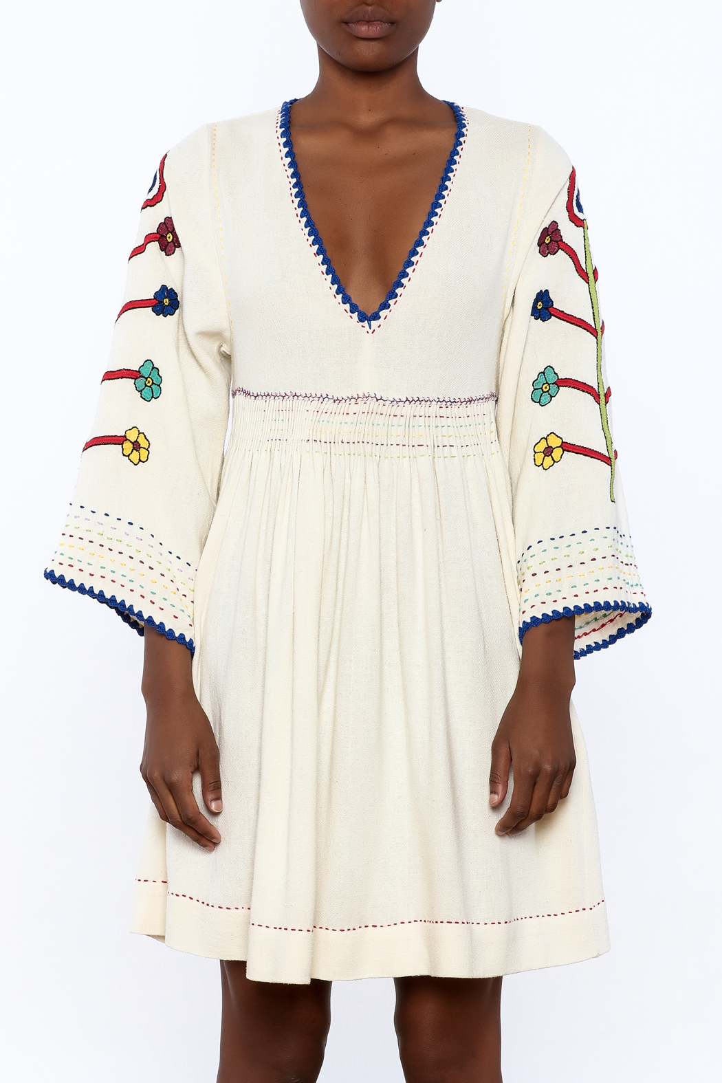 Ulla Johnson Masha Embroidered Dress - Side Cropped Image